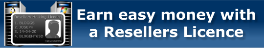 Earn easy mony with a Resellers Hosting Licence